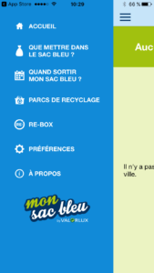 Mon Sac Bleu Free app for recycling in Luxembourg