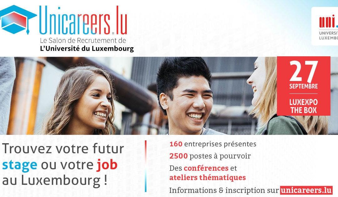 Unicareers.lu, salon de l'emploi pour jeunes diplômés et étudiants