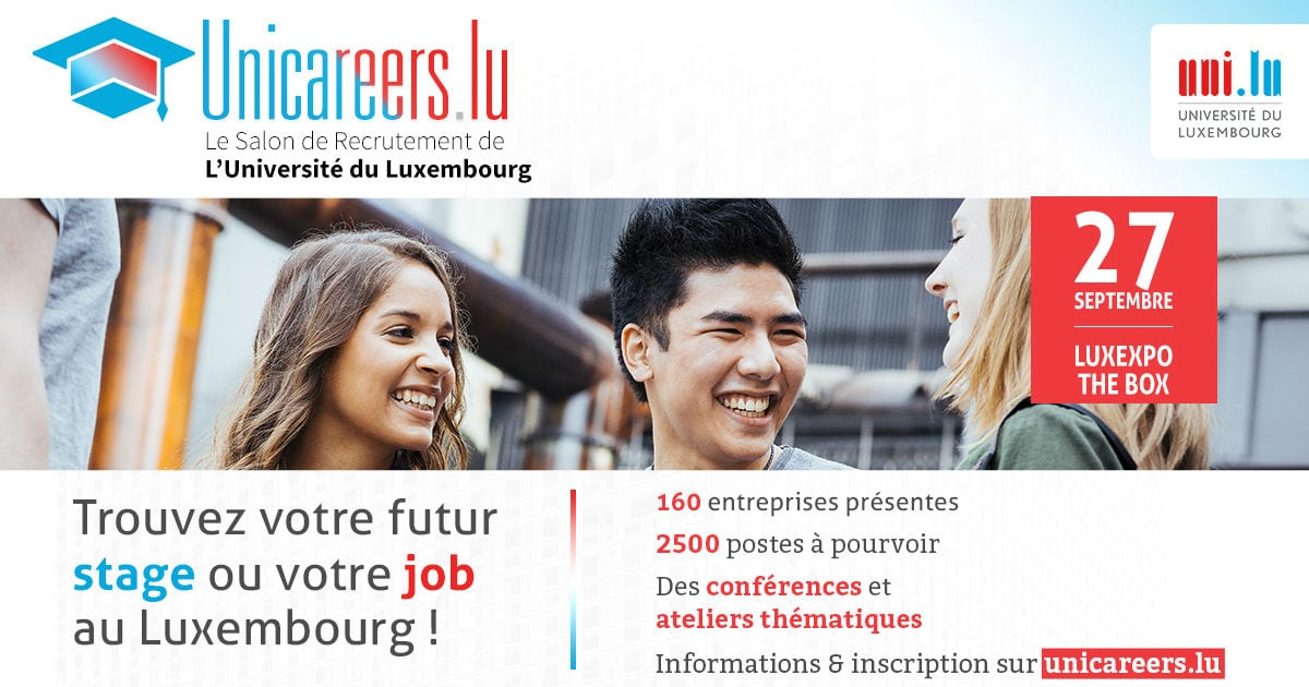 Unicareers.lu, job fair for young graduates and students