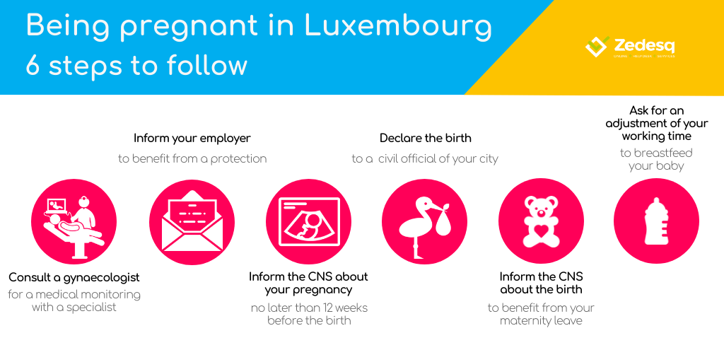 Parental and maternity leave in Luxembourg, being pregnant
