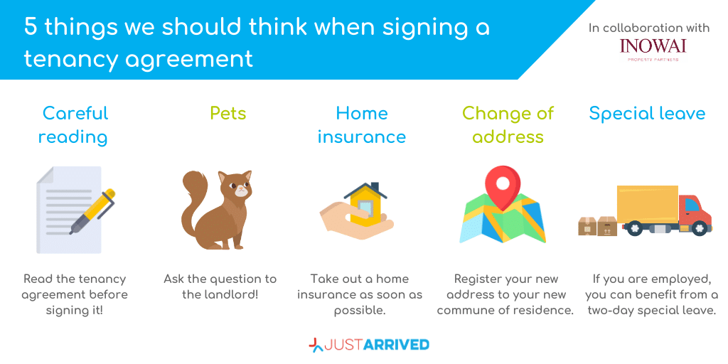 Signing a tenancy agreement